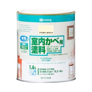 カンペハピオ 水性室内かべ用塗料/1.6L アイボリーホワイト dcmonline