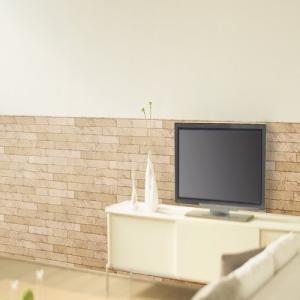 明和グラビア アクセント壁紙 腰壁シート レンガ 92X250(cm)/WAP-509 レンガ ベージュ/92X250(cm)|dcmonline