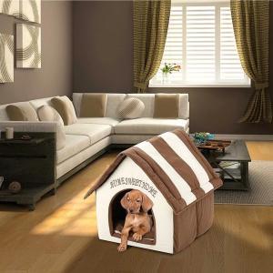 犬 猫 室内用ハウス 組み立て分解 持ち運び  ペット ベッド 子犬 クッション ソフトウォーム ケンネル マット 毛布 分解 やわらかい 軽い 屋内用