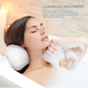 お風呂バスタブ用のヘッドレスト ネックサポート枕です。  疲れた体を癒したり気分転換にも重要な入浴で...
