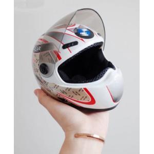 猫&犬用ヘルメット【白×銀】 おもちゃ 撮影  小さなミニヘルメット