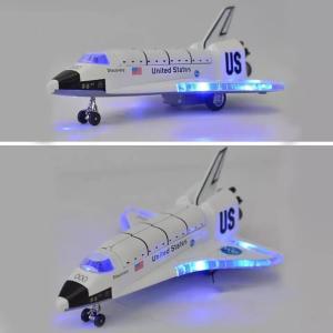 スペースシャトル 子ども用おもちゃ ライトが光ってカッコよさ倍増!飛行機のおもちゃ 航空機 モデル 送料無料 宇宙
