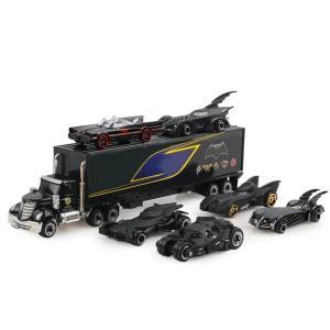 男の子が大好き! ブラックのかっこいトレーラートラック&ミニカー セット おもちゃ 玩具 クリスマス 新年 お正月 誕生日 プレゼント 景品