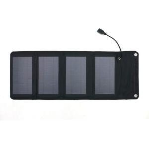 エアージェイ ポータブルソーラー充電器 太陽光充電 最大出力7W AJ-SOLAR7W BK|でんでんショッピング Pモール店