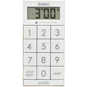 ドリテック デジタルタイマー スリムキューブ ホワイト T-520WT