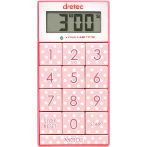 ドリテック デジタルタイマー スリムキューブ ピンク T-520PK