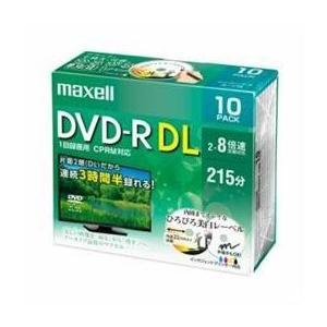 マクセル 8倍速対応 録画用 DVD-R DL 10枚パック 8.5GB ホワイト プリンタブル DRD215WPE.10S でんでんショッピング Pモール店