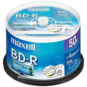 maxell 録画用 BD-R 標準130分 4倍速 ワイドプリンタブルホワイト 50枚スピンドルケ...