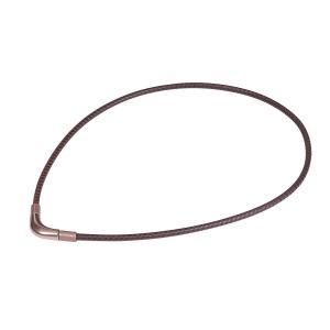 ファイテン ネックレス RAKUWA ネックX100 (チョッパーモデル) ブラウン 40cm