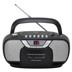 訳あり 箱不良 アピックス CDラジオカセットレコーダー  AMV-806 BK (0)