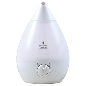 APIX アピックス 超音波式アロマ加湿器 SHIZUKU touch+ シルクホワイト ASZ-015-WH