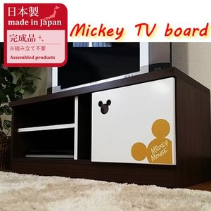 木製 ミッキー テレビ台 おしゃれ 一人暮らし 幅100 テレビ台 (ビオラミッキー)ミッキーテレビ台 ディズニー テレビ台 一人暮らし完成品