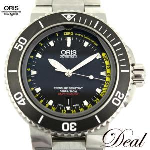 オリス アクイス デプスゲージ 7675 4154M 腕時計 ダイバーウォッチ