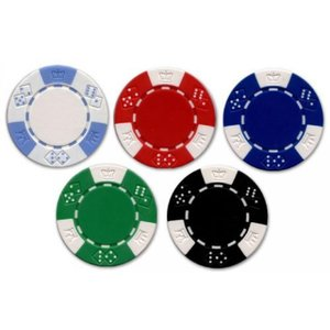 6 Chip Sample Set Jackpot Casino 11.5gm Clay Poker Chips