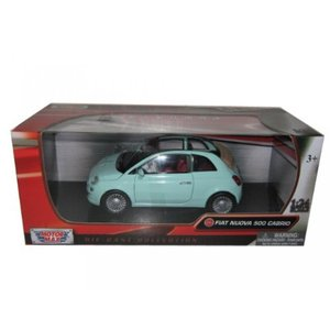 【送料無料】ミニカー Fiat 500 Nuova Cabrio Green 1/24 by Mot...