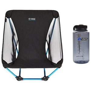 【送料無料】ヘリノックス Big Agnes Helinox Ground Chair - (Black) with Free 32oz Nalgene Water Bottle 輸入品|dean-store