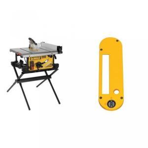 【送料無料】デウォルト DEWALT DWE7490X 10-Inch Job Site Table Saw with Scissor Stand with Dado Throatplate for 10-Inch Portable Table Saw 輸入品|dean-store