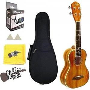 ウクレレ Oscar Schmidt OU5 Ukulele Concert Size All Koa Uke w/Padded Gig bag and More 輸入品|dean-store