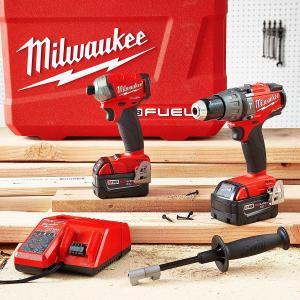 ミルウォーキー Milwaukee M18 FUEL Hammer Drill and Hydraulic Driver 2-Tool Combo Kit 輸入品|dean-store