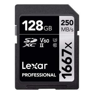 送料無料 Lexar レキサー Professional 128GB SDXCカード V60 250...