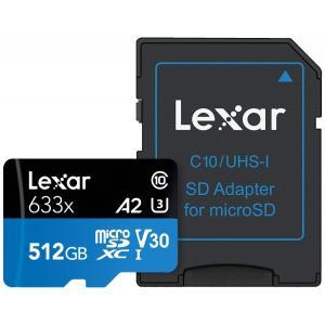 送料無料 Lexar レキサー MicroSDXC 512GB with adapter UHS-1...