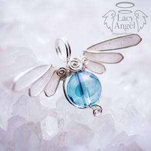 アクアオーラ ペンダントトップ 〜Petit Angel Wing〜 天然石|dear-yhstore