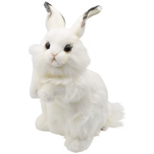 HANSA ハンサ シロウサギ うさぎ 3313 リアル 動物 ぬいぐるみ クリスマス プレゼント|dearbear