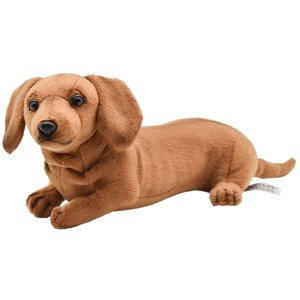 HANSA ハンサ ミニチュアダックスフンド 子 犬 4002 リアル 動物 ぬいぐるみ プレゼント ギフト 母の日 父の日|dearbear
