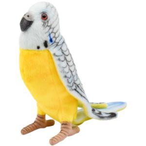 HANSA ハンサ ブルーセキセイインコ 鳥 4653 リアル 動物 ぬいぐるみ プレゼント ギフト 母の日 父の日|dearbear