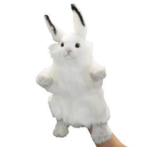 HANSA ハンサ 7156 ハンドパペット シロウサギ 34|dearbear