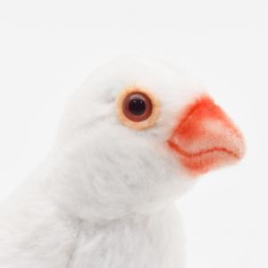 シロブンチョウ 鳥 13 動物 ぬいぐるみ HANSA ハンサ 夏休み 帰省 プレゼント お土産|dearbear|04