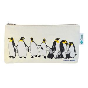 Animal Friends アニマルフレンズ キャンバスペンポーチ ペンギン|dearbear