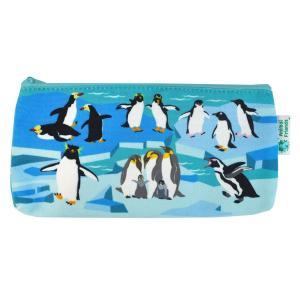Animal Friends アニマルフレンズ カラーキャンバスペンポーチ ペンギン|dearbear