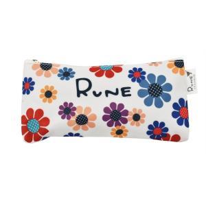 RUNE ペンポーチ サンフラワー ホワイト 雑貨 母の日 プレゼント お土産|dearbear