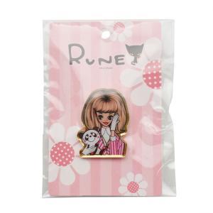 RUNE ルネ ピンズ ルネガール パンダ 雑貨 お土産 プレゼント ギフト 母の日 父の日|dearbear