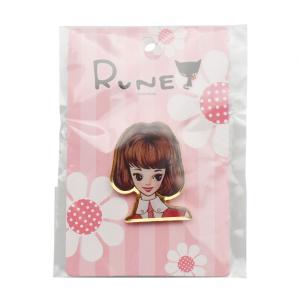 RUNE ルネ ピンズ ルネガール ピンク 雑貨 お土産 プレゼント ギフト 母の日 父の日|dearbear