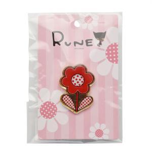 RUNE ルネ ピンズ フラワー レッド 雑貨 母の日 プレゼント お土産|dearbear
