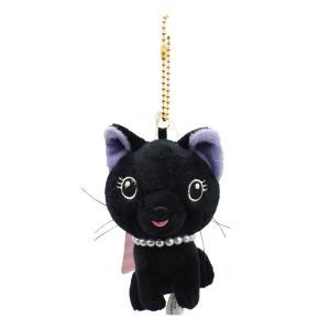 RUNE ルネ ネコ ストラップ ブラック (ボールチェーン) 雑貨 母の日 プレゼント お土産|dearbear