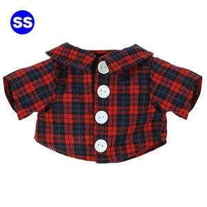 べアウェア ロングシャツ チェック SS ぬいぐるみ ぬい 服 洋服 着せ替え プレゼント|dearbear