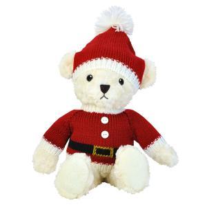 クリスマスセーターベア サンタ LL プレゼント テディベア|dearbear