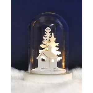クリスマス ミニドームライト ツリー&ハウス 飾り 装飾|dearbear