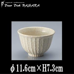 窯変志野 しのぎ飯碗 お茶碗ミニ丼 陶器磁器の食器 おしゃれな業務用和食器 お皿中皿深皿|deardishbasara