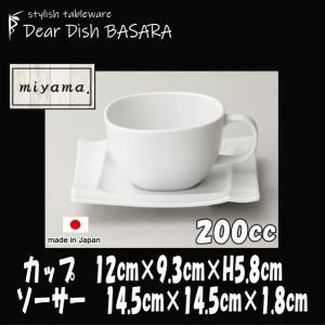 Isola イゾラカップ&イゾラソーサー 白 深山(ミヤマ)ブランド コーヒーカップ&ソーサーセット おしゃれな業務用食器|deardishbasara