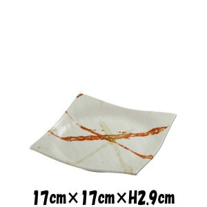 東雲(白) 正角5.5皿 陶器磁器の食器 おしゃれな業務用和食器 スクエアプレート お皿中皿平皿