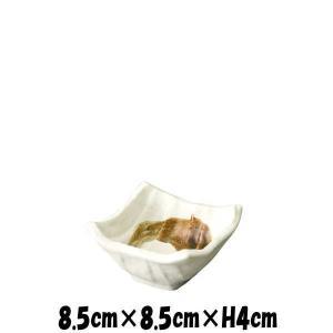 粉引刷毛 四角小鉢 小 陶器磁器の食器 おしゃれな業務用和食器 スクエア お皿小皿深皿|deardishbasara