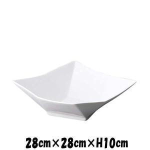 Bowls 折り紙ボールLL 白い陶器磁器の食器 おしゃれな業務用洋食器 スクエア お皿大皿深皿|deardishbasara
