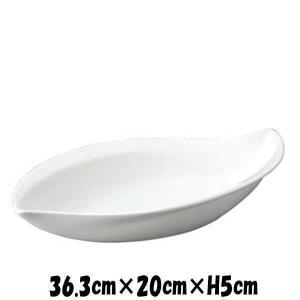 Bowls 36cmリーフボール 白い陶器磁器の食器 おしゃれな業務用洋食器 お皿特大皿深皿|deardishbasara