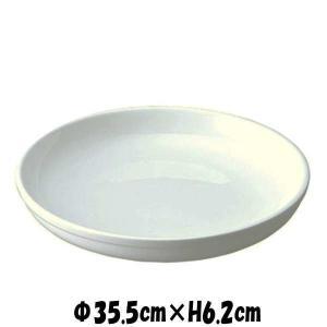 Buffet 35cmパスタボール 白い陶器磁器の食器 おしゃれな業務用洋食器 お皿特大皿深皿|deardishbasara