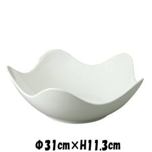 Buffet 31cmスターボウル 白い陶器磁器の食器 おしゃれな業務用洋食器 お皿特大皿深皿|deardishbasara