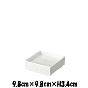PureWhite 高台切立皿 白い陶器磁器の食器 おしゃれな業務用洋食器 スクエア お皿小皿深皿|deardishbasara